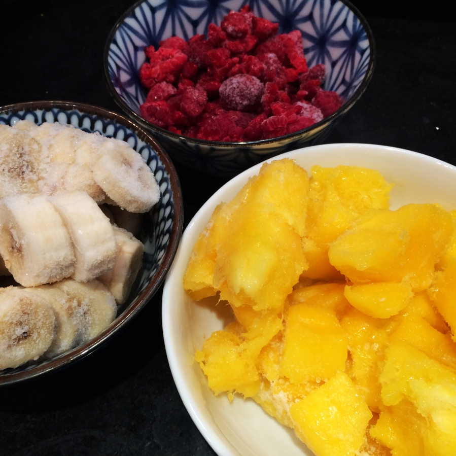 Raw Mango Raspberry Ice Cream