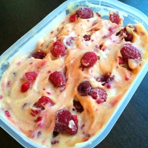 Raw Mango Raspberry Ice Cream