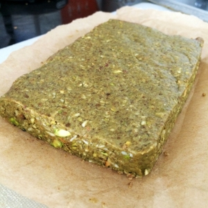 Matcha Pistachio Brownie Bar Fudge