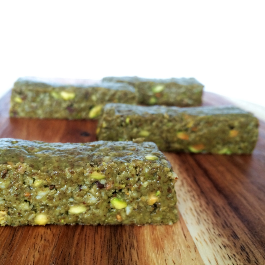 Matcha Pistachio Brownie Bar