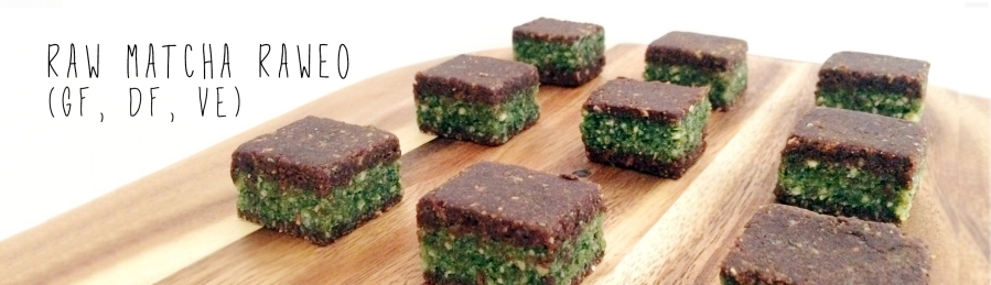 Raw matcha raweo energy bar