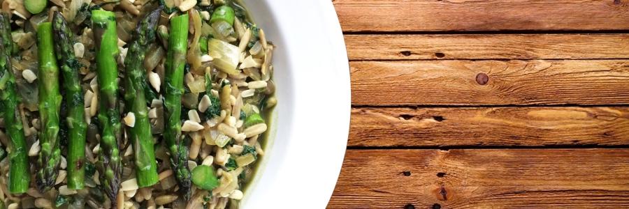Clean Spinach Asparagus Risotto
