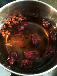 red date goji berry tea