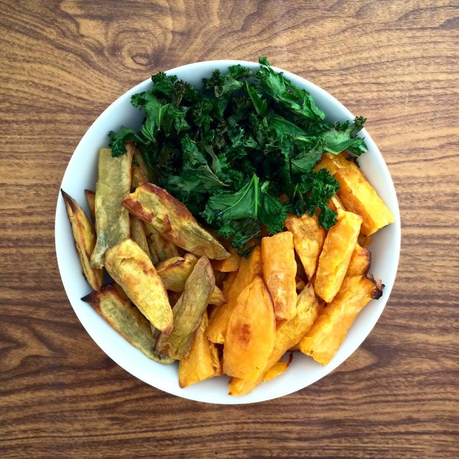 Sweet potato kale chips