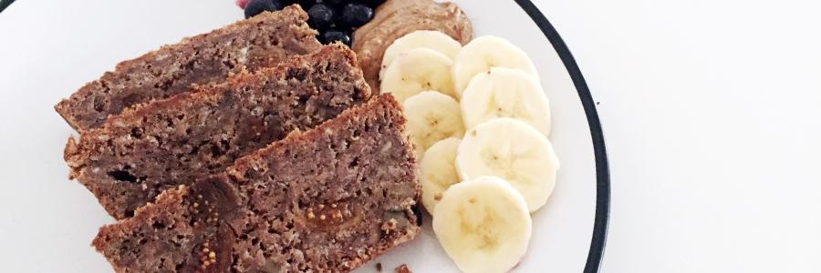 banana fig protein bread