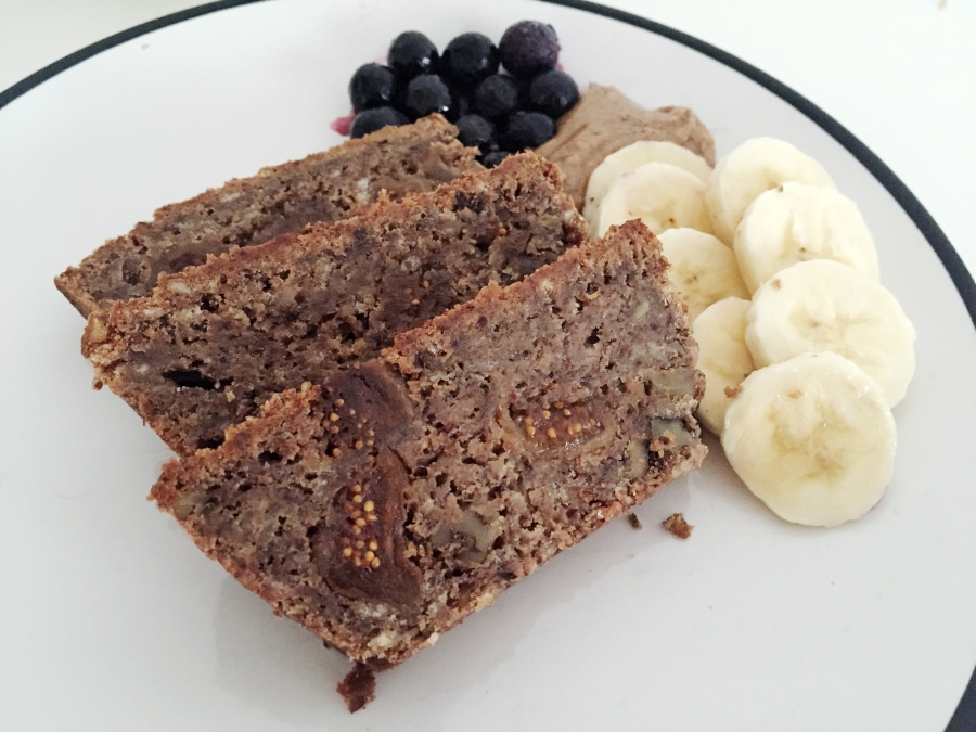 banana fig protein bread 14