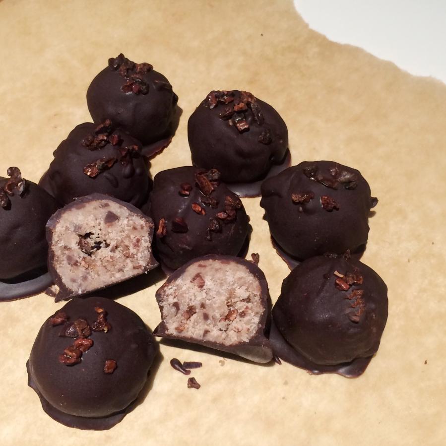 cookies cream protein truffle