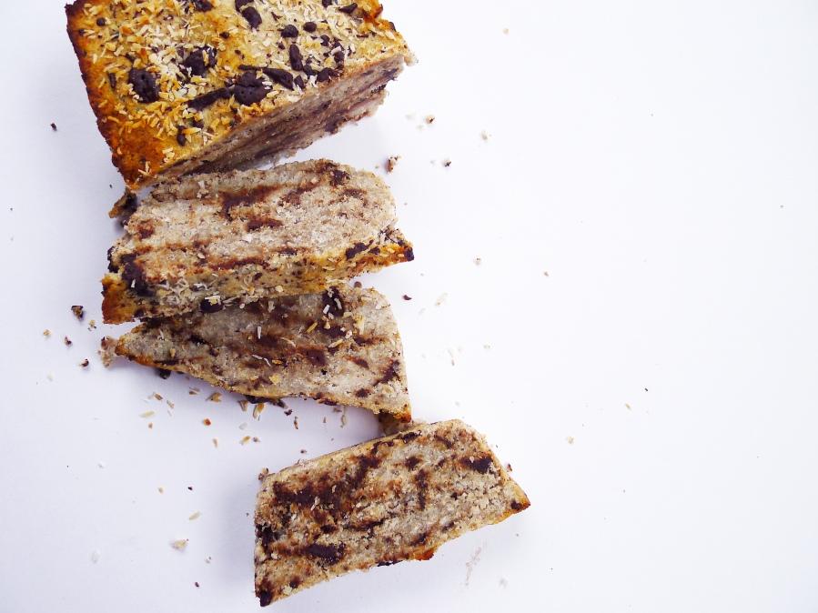 Coconut Banana Chocolate Bread